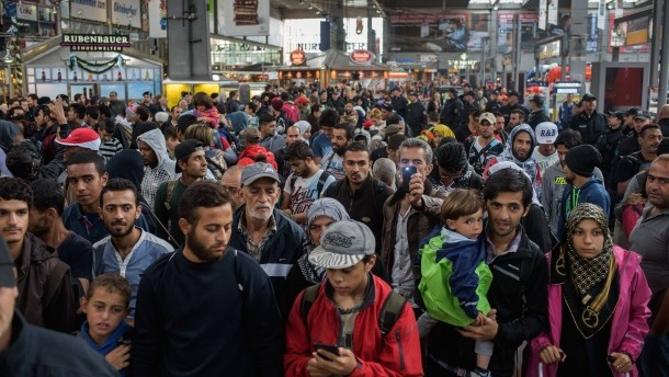 Flüchtlinge Ankunft München
